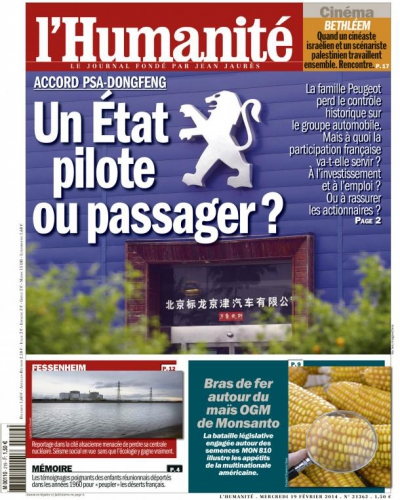 automobile PSA Dongfeng Un Etat pilote ou passager lhumanite-cover.jpg
