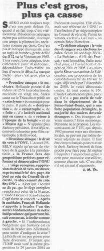 Nicolas Sarkozy, UMP, élections présidentielles, 2012, propagande, mensonge, nucléaire, veto, ONU, France, vote des étrangers