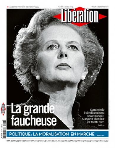 Margaret Thacher La grande faucheuse liberation-cover.jpg