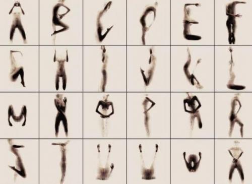 Art, Anastasia Mastrakouli, alphabet, nu, femme, photo, photographie, naked silhouette alphabet, alphabet silhouette nue
