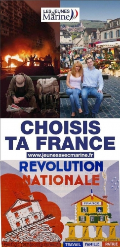 fn,front national,pétain,révolution nationale,extrême droite,affiche,france