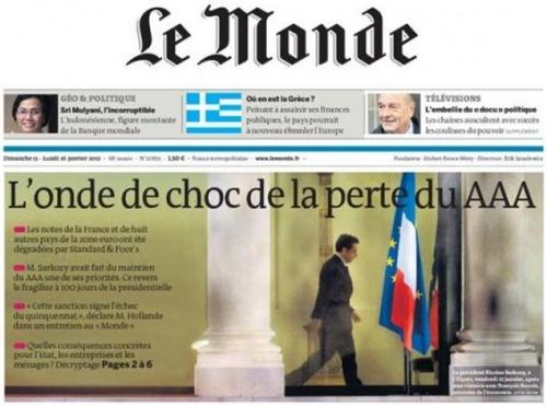 triple a,aaa,france,s&p,standard & poor's,moody's,ump,ps,nicolas sarkozy,élections présidentielles,2012,françois hollande,dégradation,downgrade,note,propagande